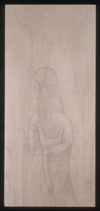 GINO DE DOMINICIS (1947-1998)Madonna Androgina, 1996 Graphite on panel35⅞ x 17¾ in. (91 x 45 cm.)© Estate of the artist / Archivio Gino De Dominicis, Foligno, Italy. DACS 2017.