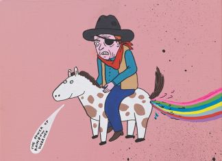 Laurina Paperina, John Wayne and the pony, 2017, courtesy Labs Gallery