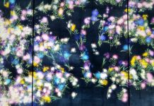 teamLab, Flowers and people. Dark, 2015