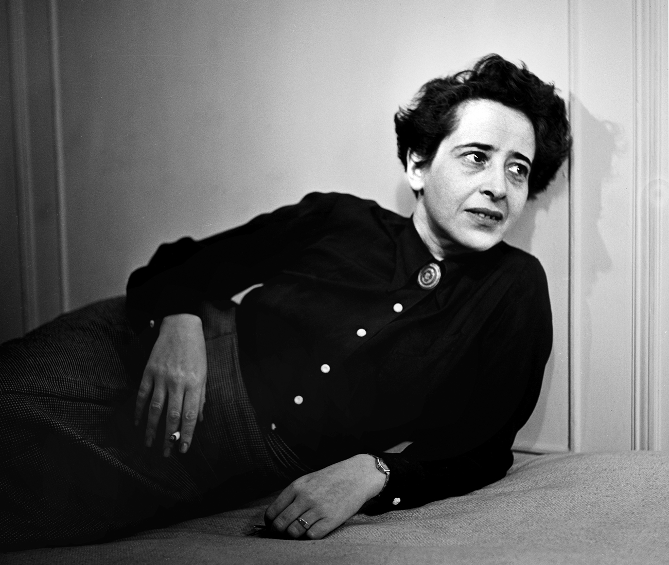 Hannah Arendt in 1944. Portrait by photographer Fred Stein (1909-1967)