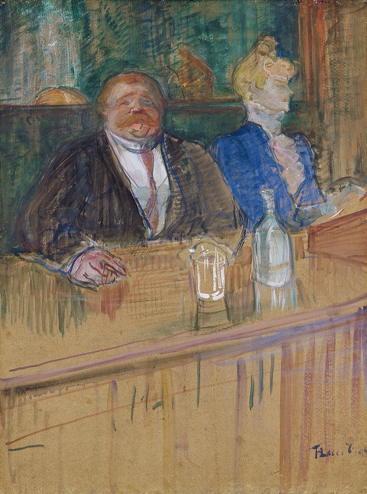 henri de toulouse lautrec au caf le consummateur et la caissi re chlorotique 1898 kunsthaus. Black Bedroom Furniture Sets. Home Design Ideas