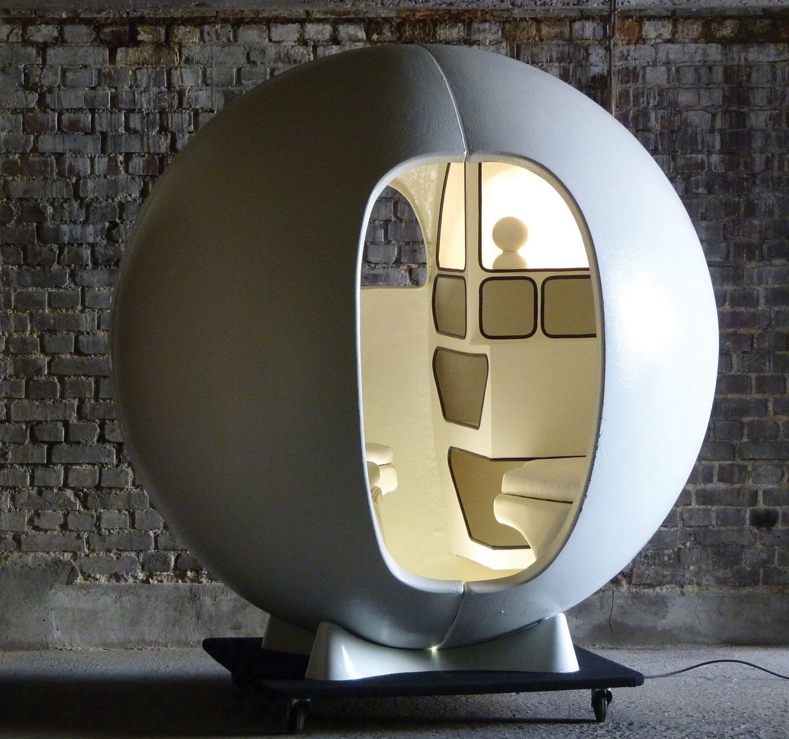 Isolation Sphere by Maurice Claude Vidili, 1972, courtesy of Maison Gerard