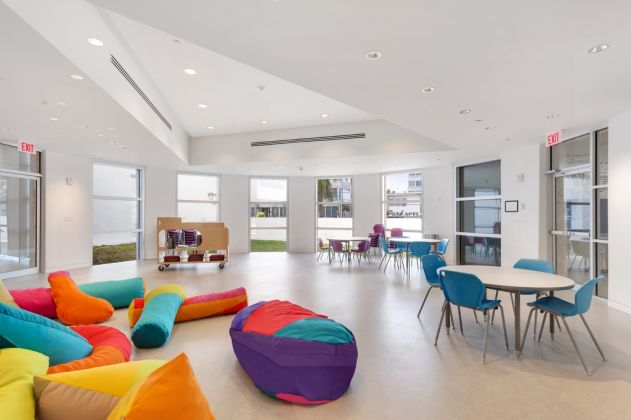 View of the new Rotunda Classroom at The Bass Creativity Center. Photography by Zachary Balber. Courtesy of The Bass, Miami Beach