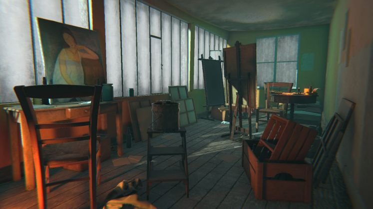 The Ochre Atelier for Modigliani at Tate Modern on HTC Vive (Courtesy of Preloaded)