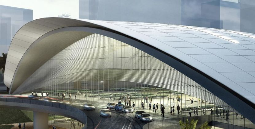 Farrells + AECOM, High Speed Rail Terminal, Singapore