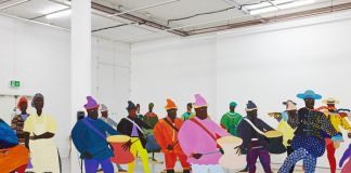 Lubaina Himid Naming the Money 2004 Installation view of Navigation Charts, Spike Island, Bristol 2017 Courtesy of the artist, Hollybush Gardens, and National Museums, Liverpool Photo: Stuart Whipps