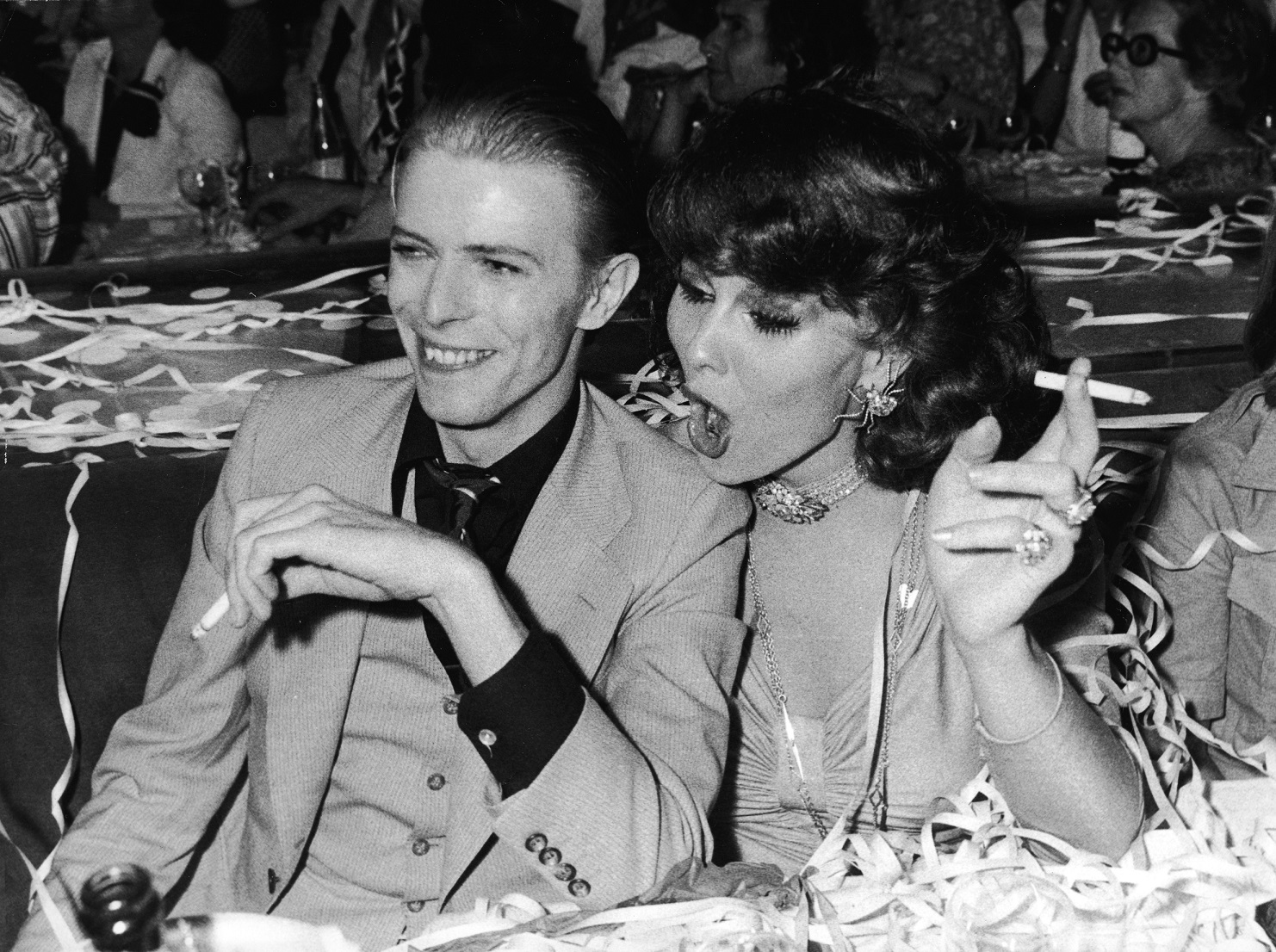 David Bowie And Romy Haag In Paris Photo by Pictorial Parade/Getty Images)