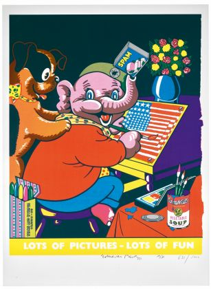 Eduardo Paolozzi, Pop Art Rede ned (Lots of Pictures – Lots of Fun), 1971