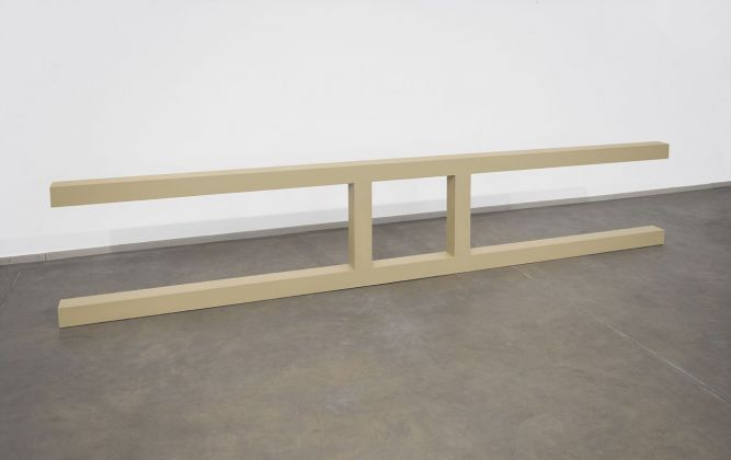 Gianni Piacentino, Yellow Ochre Fence Object, 1967-68