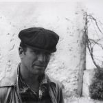 Jack Keourac, by Villa Mouneria garden wall outside William Burroughs' door. Tangier, Morocco. May 1957 © Allen Ginsberg Estate