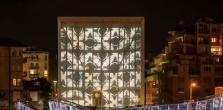 John Armleder, Endless, Museion Media Façade, Bolzano 2016. Photo Luca Meneghel, courtesy of the artist