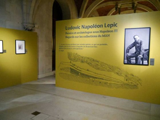 Ludovic Napoléon Lepic. Exhibition view at Musée d'Archéologie Nationale, Saint-Germain-en-Laye