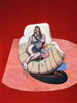 Francis Bacon Study for Portrait of Henrietta Moraes, 1964 198,1 x 147,3 cm Öl auf Leinwand Courtesy Heidi Horten Collection © Bildrecht, Wien, 2017