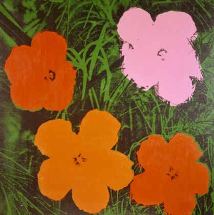 Andy Warhol Four-Foot Flowers, 1964 122,2 x 122,2 cm Acryl und Siebdruck auf Leinwand Courtesy Heidi Horten Collection © The Andy Warhol Foundation for the Visual Arts, Inc. / Licensed by Bildrecht, Wien, 2017