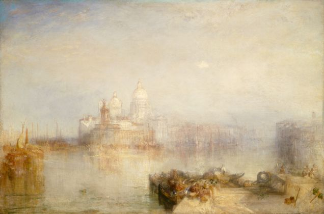 Joseph Mallord William Turner Venezia, Punta della Dogana e Santa Maria della Salute, 1843 Olio su tela, 62 x 93 cm The National Gallery of Art, Washington Given in memory of Governor Alvan T. Fuller by The Fuller Foundation, Inc.
