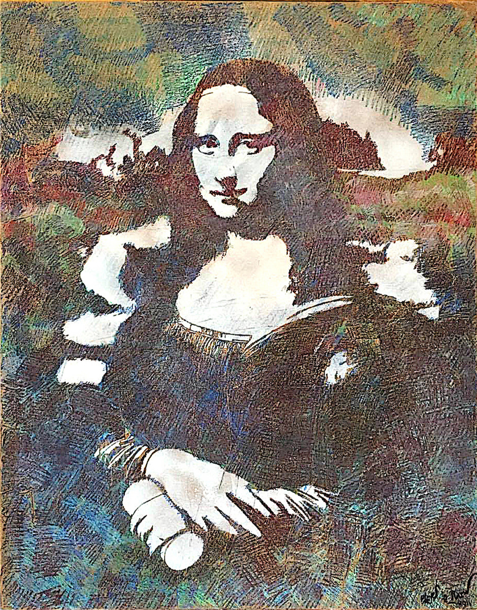 Blek Le Rat, Mona Lisa, 2012