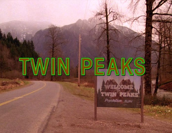 TWIN PEAKS. Opening credits. Originally aired April 8, 1990. Copyright ©1990 CBS Broadcasting Inc. All Rights Reserved. Credit: CBS Photo Archive. Image is a framegrab.