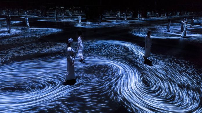 teamLab, Moving Creates Vortices and Vortices Create Movement, 2017