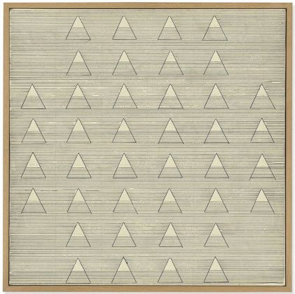 Agnes Martin, Words, 1961, £ 788.750 (courtesy of Christie's Images Limited 2018 ©)