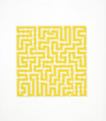 Anni Albers Yellow Meander 1970 serigrafia 2018 The Josef and Anni Albers Foundation