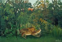 The Hungry Lion, 1905 (oil on canvas)