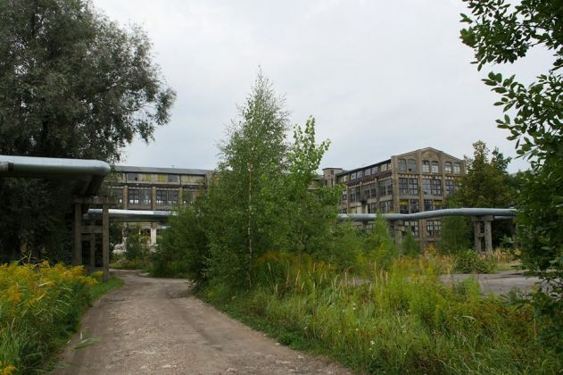Exterior of Bolshevichka textile factory, Riga. Photo Ansis Starks. Courtesy of RIBOCA