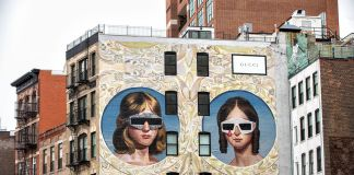 Gucci Art Wall New York, Courtesy of Krista Lindahl - Colossal Media