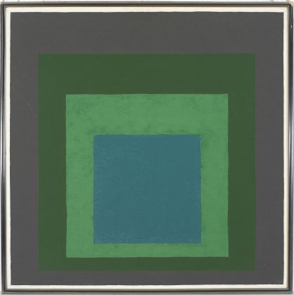 Josef-Albers-Study-for-Homage-to-the-Square_-Long-Ago-1962-olio-su-Masonite-2018-The-Josef-and-Anni-Albers-Foundation