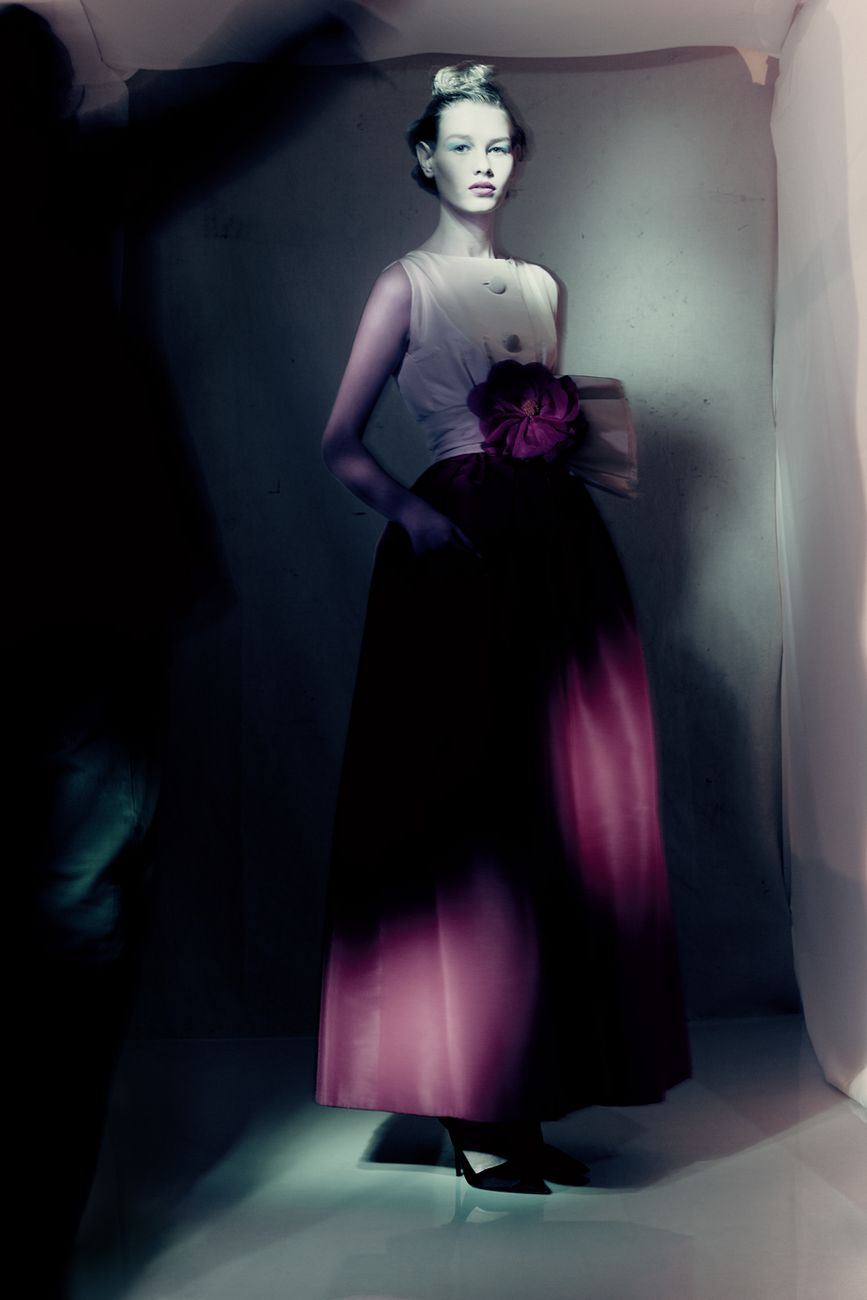 Monaco Dress Spring-Summer 1959 Haute Couture collection Longue line by Yves Saint Laurent ® Paolo Roversi