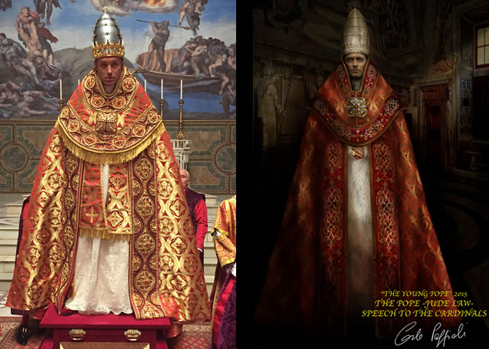 Il costume di Carlo Poggioli per Jude Law in The Young Pope
