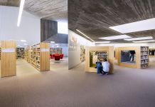 JKMM Architects, Apila Library, SeinÑjoki 2012. Children's department and reading hall. Photo Mika Huisman Copyright JKMM Architects