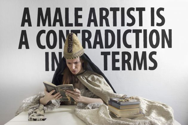 Chiara Fumai, A Male Artist is a Contradiction in Terms, 2013. V-A-C collection