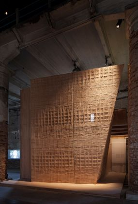 andramatin, Andra Matin, Elevation, 2018, Installation, cross laminated timber joinery system. 16. Mostra Internazionale di Architettura - La Biennale di Venezia, FREESPACE. Photo by Francesco Galli. Courtesy: La Biennale di Venezia