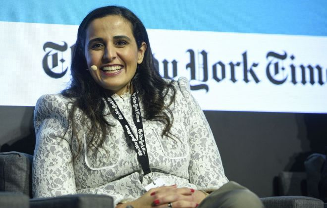 H.E. Sheikha Al Mayassa bint Hamad bin Khalifa Al Thani. Chairperson, Qatar Museums Board of Trustees. Photo credit The New York Times Art Leaders Network