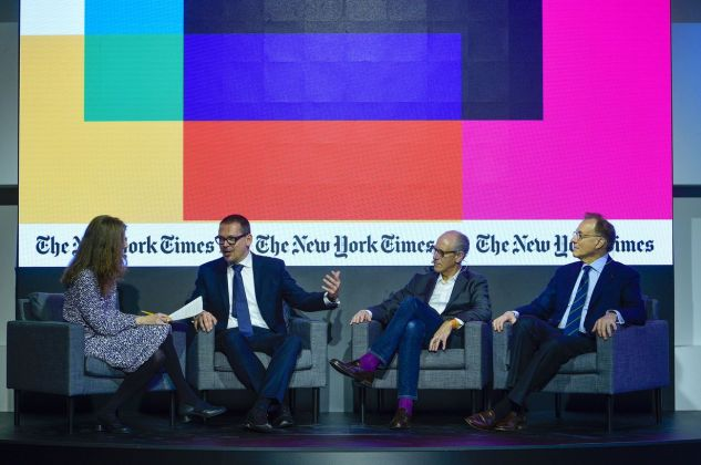 Hilarie M. Sheets (The New York Times), Markus Hilgert, Glenn D. Lowry, Gary Tinterow. Photo credit The New York Times Art Leaders Network