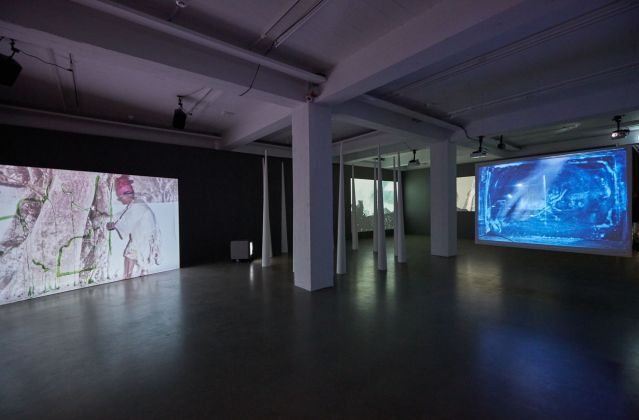 Joan Jonas, Does the Mirror Make the Picture. Installation view at Living Art Museum, Reykjavík 2018. Courtesy of the artist, Electronic Arts Intermix (EAI), New York & Gavin Brown's Enterprise, New York-Roma