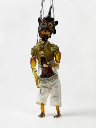 Wael Shawky, Cabaret Crusades III. The Secrets of Karbalaa (Marionette), 2014. V-A-C collection