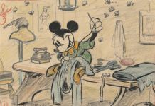 Brave Little Tailor, 1938. Disney Studio Artist. Story sketch. Colored pencil and graphite on paper © Disney Enterprises Inc.