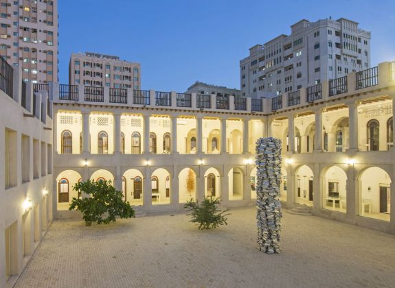 555 Pillar, 2016. Installation view, Sharjah Art Foundation, Hassan Sharif, I Am The Single Work Artist, 2017. Courtesy of Hassan Sharif Estate