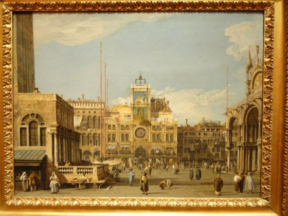Canaletto (1697-1768), La Torre dell'Orologio in Piazza San Marco, Venezia, 1728-1730, olio su tela, cm 52,1 x 69,5, The Nelson-Atkins Museum of Art, Kansas City, Missouri. Purchase: William Rockhill Nelson Trust, 55-36. Photo credit: Melville McLean