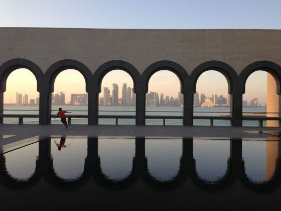 Doha, skyline from the Museum of Islamic Art
