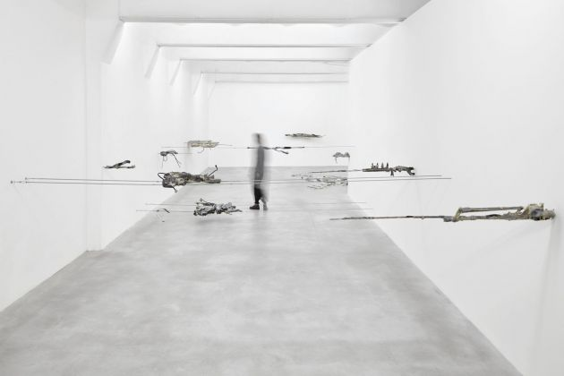 Giulia Cenci, ground ground, 2017, exhibition view, SpazioA, Pistoia