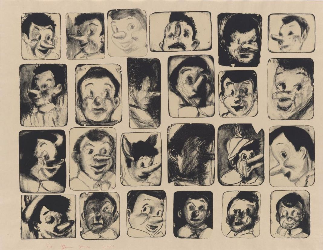 Jim Dine, 24 little Pinocchio drawings, 2010