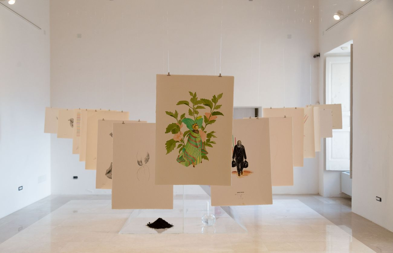 La Società della Stanchezza. Installation view at Museo Diocesano, Salerno 2018. Photo credits Bledar Hasko