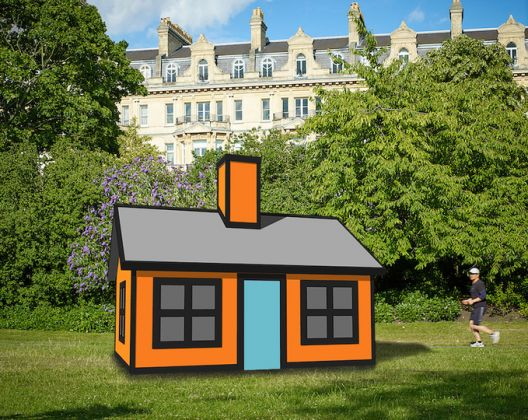 Richard Woods Holiday Home (Regent's Park), 2018 Enamel paint on birch plywood Courtesy: Alan Cristea Gallery