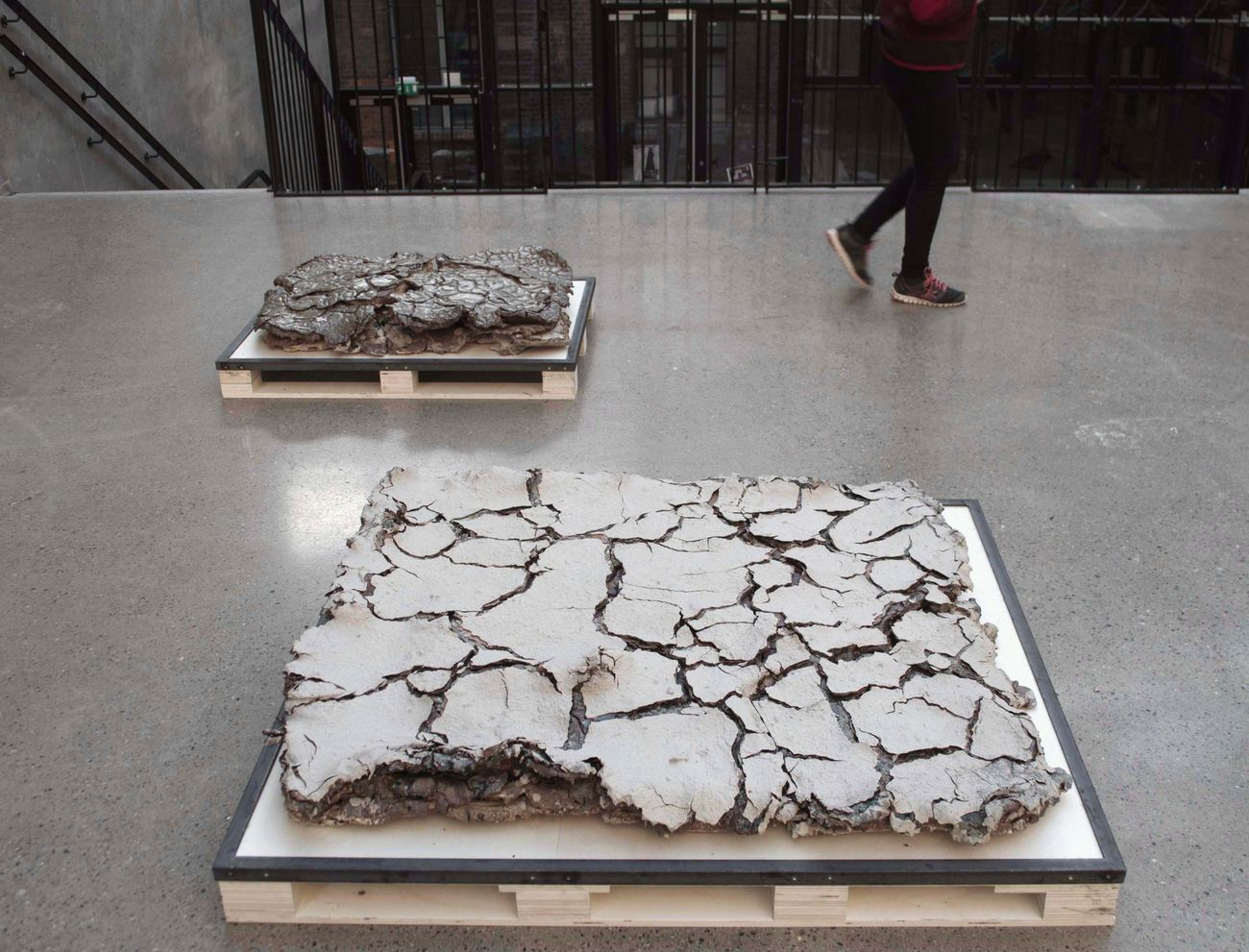 Katrine Koster Holst, Studeis of strata and crack formations_Slab #3 & #5, 2015-18