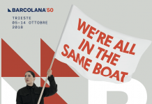 Marina Abramović, We're all in the same boat, manifesto per Barcolana50, dettaglio