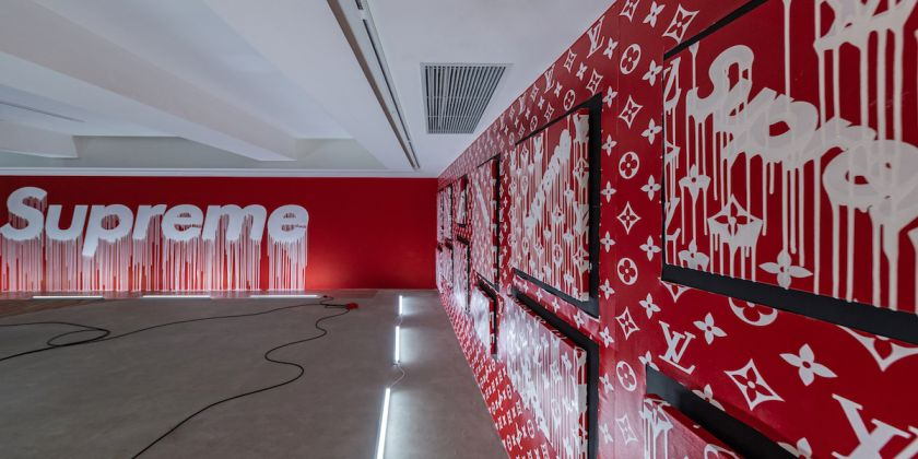 Supreme même, exhibition view at Over the Influence, Hong Kong 2018, courtesy the gallery