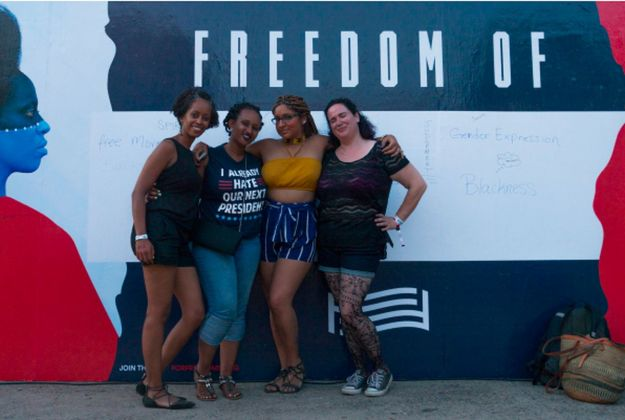 50 States, 50 Billboards - Aida Muluneh x For Freedoms at AfroPunk - New York, New York, 2016