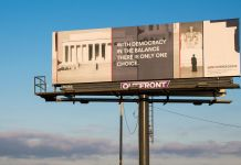 50 States, 50 Billboards - Carrie Mae Weems x For Freedoms - Columbus, Ohio, 2016